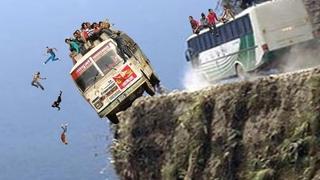 Dangerous Idiots Operator Extreme Truck Fails Driving, Heavy Equipment Machines Fails Working