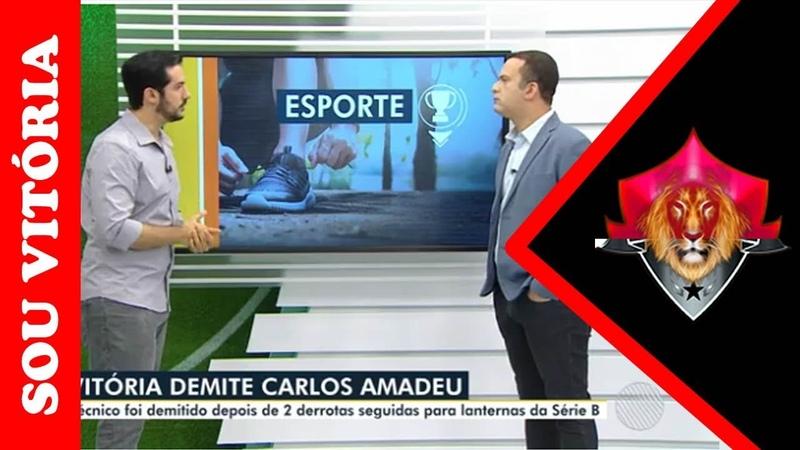 Após 2 derrotas consecutivas e com 48% de aproveitamento Carlos Amadeu é demitido