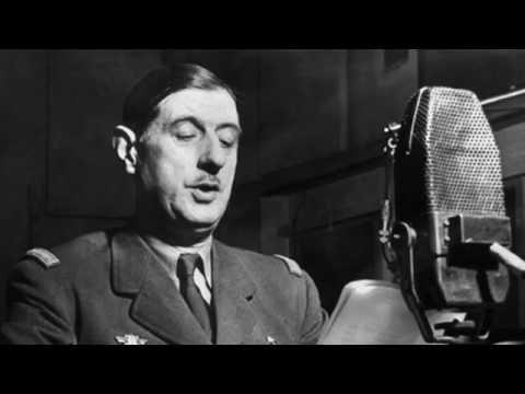 Président de Gaulle chante la Marseillaise