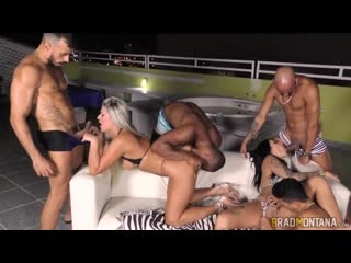 Katharine Madrid, Melissa Lisboa - Group, Blowjob, Blonde, Anal, DP