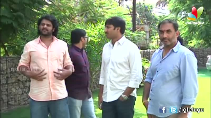 Prabhas at Gopichand movie muhurat