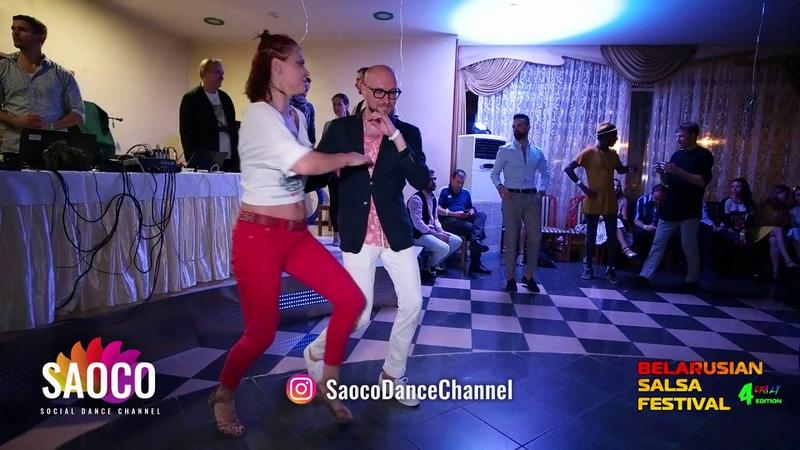 Marco Ivanyk and Ksenia Kozlovskaya Salsa Dancing at Belarusian Salsa Festival 2018, Friday 28.09.2018