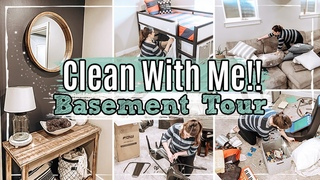 *NEW* BASEMENT CLEAN WITH ME 2020 + FINISHED BASEMENT HOUSE TOUR