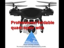 RC Helicopter Drone with HD 1080P Camera WIFI FPV Selfie Drone Professional Foldable Quadcopter