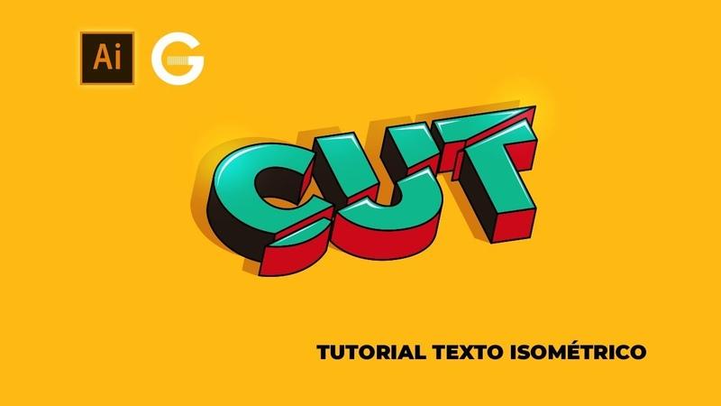 Illustrator Tutorial | Texto 3D Isométrico | 3D Isometric Text
