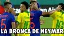 Neymar se peleó con Wilmar Barrios y se fueron a los Golpes de manos .