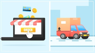 Motion Graphics in After Effects ( Online Shop and Delivery Animation )