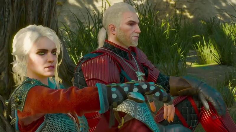 Wiedźmin 3 Krew i Wino Wiedźminka Ciri odwiedza Geralta Ukryta Scena