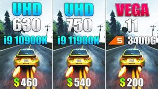 UHD 750 vs UHD 630 vs VEGA 11 - Gaming Without Graphics Card