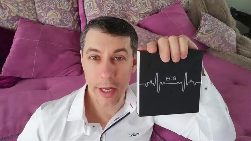 Фитнес браслет измеряет давление и кардиограмму сердца BOZLUN B33