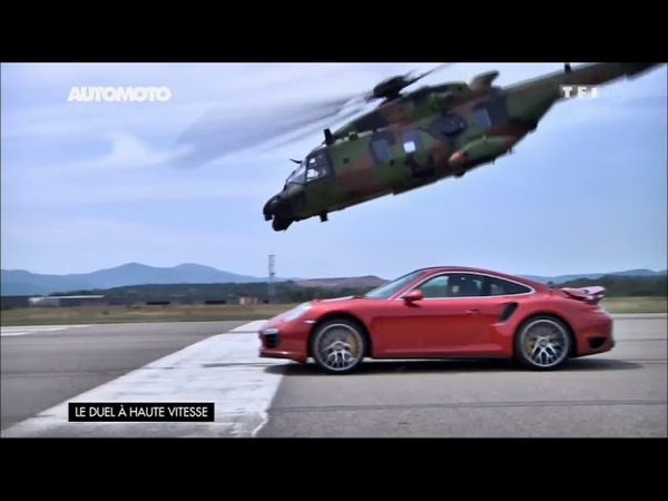 Speed Race Porsche 911T S vs Helicopter NH90