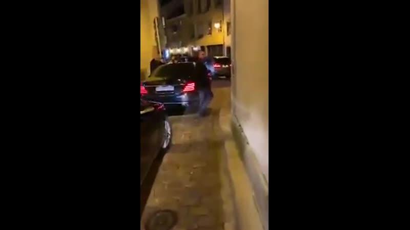 Заблокированый центр Люксембурга во время ужина Медведева в элитном ресторане города