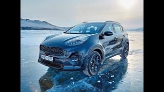 Новый Kia Sportage 2021: очернение на белом снегу. Тест обзор 2021