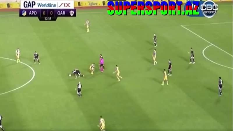 APOEL 0 1 Qarabag Mahir Emreli goal UEFA Champions League 06 08 2019 1 mp4