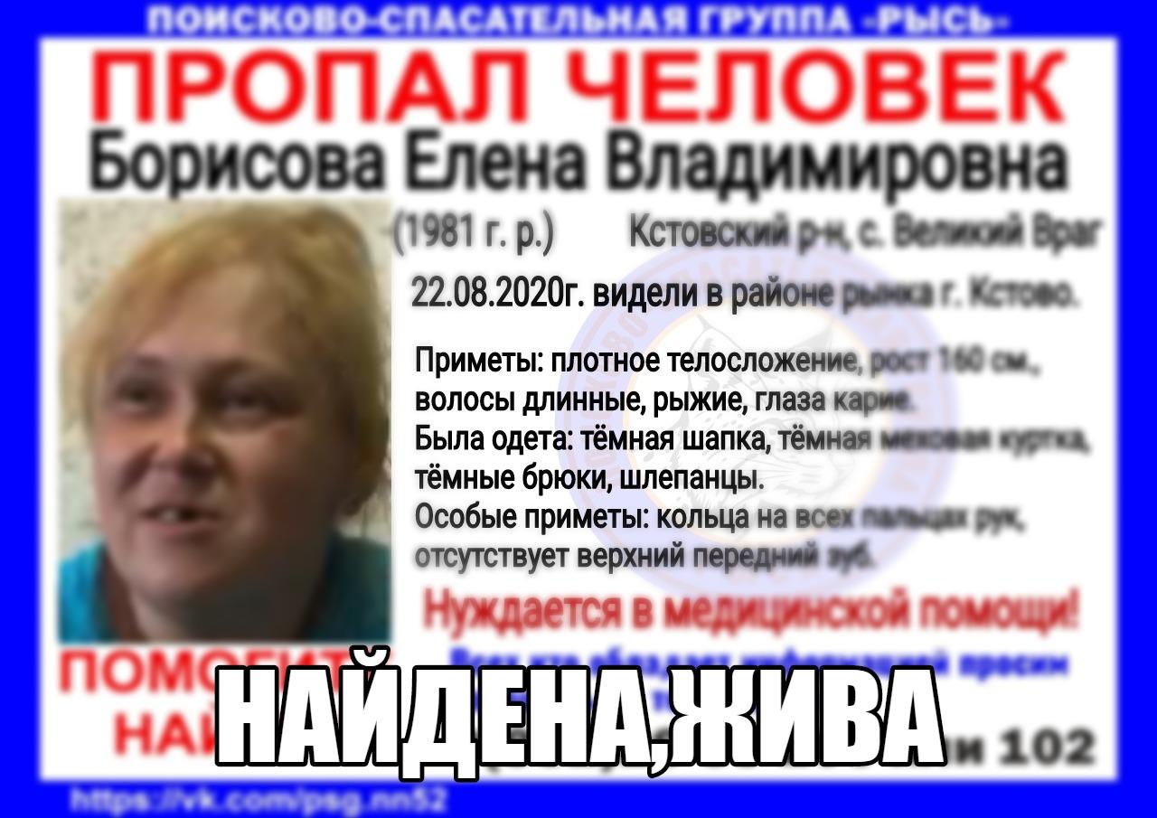 Борисова Елена Владимировна, 1981 г.р., Кстовский р-он, с. Великий Враг