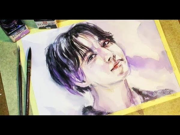 J-Hope | BTS (방탄소년단) Fake love Speed Drawing by SakuTori
