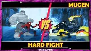 SpiderMan and Hulk Savage Vs Wolverine and Ghost Rider [Hard Fight] MUGEN CHAR