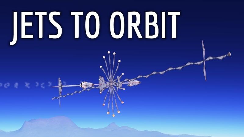 Orbiting Kerbin using ONLY Jet Engines! | Stock KSP 1.7