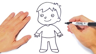 How to draw a Child or Boy Step by Step | Boy Child Drawing Lesson