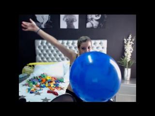 MissRosario havin fun with BTP BIG blue balloon