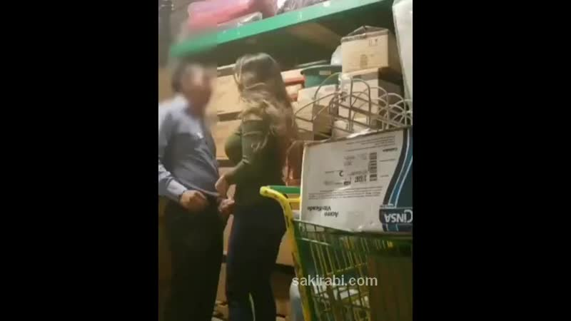 Old store manager fucking young Turkish teen in warehouse 480p mp4