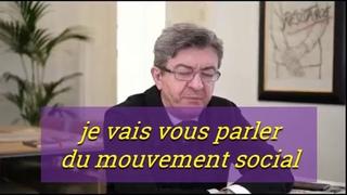 """Melenchon : """"...Grand 'attends une réponse des leaders syndicaux"""