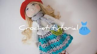 Tilda doll lace skirt crochet tutorial