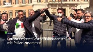 Corona-Protest: Geschäftsinhaber stoßen mit Polizei zusammen