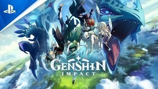 СТРИМ Genshin Impact PC ► СМОТРИМ ОБНОВЛЕНИЕ 2.0 + Fall Guys