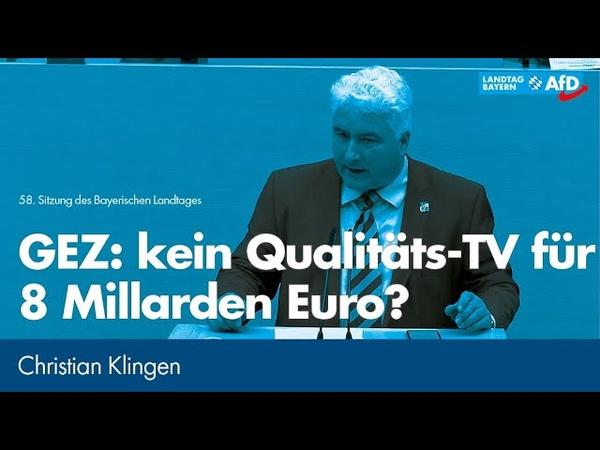 Christian Klingen: GEZ kein Qualitäts TV für 8 Milliarden Euro?