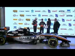 Sahara Force India F1 presentation 2015 car
