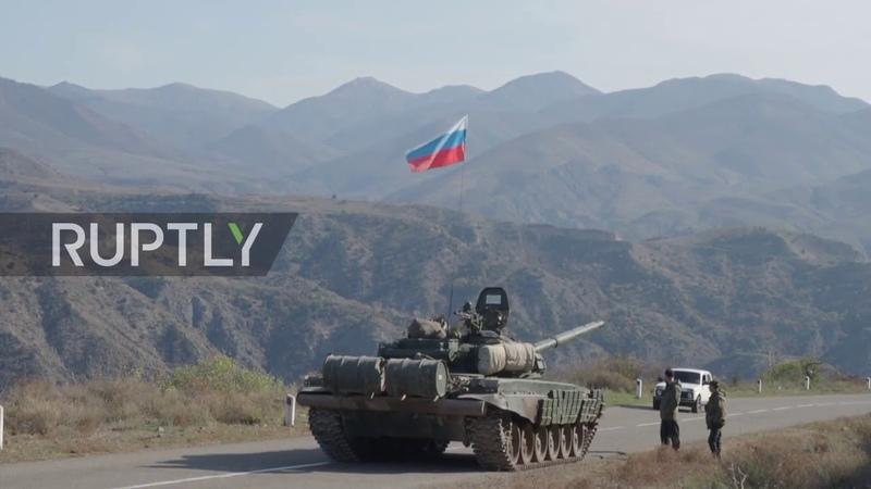 Nagorno Karabakh Russian peacekeepers enter disputed region through Lachin corridor