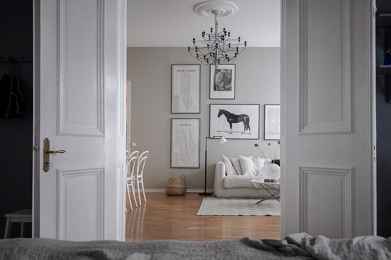 Светлая квартира с синей спальней в Гётеборге (66 кв.