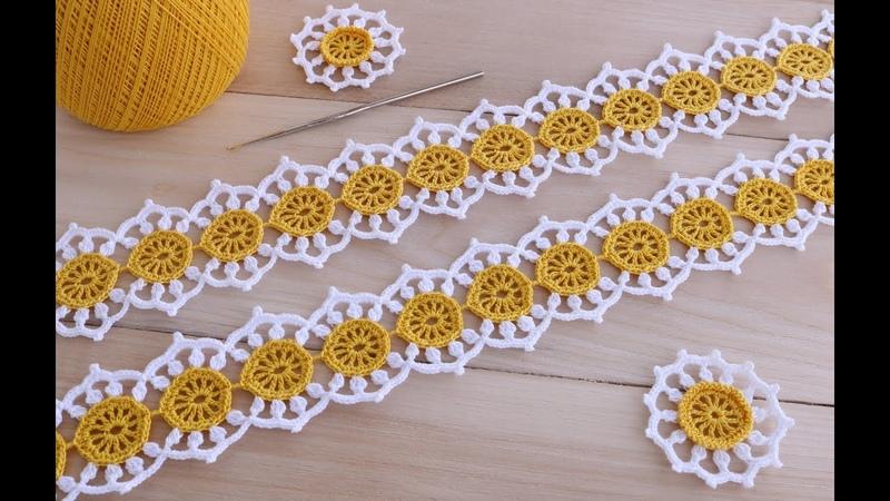 Вязание крючком ЛЕНТОЧНОЕ КРУЖЕВО Ромашки мастер класс Ribbon Lace Crochet