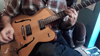 Jump Blues Double Shuffle backing track and Grez Guitar Demo by Tommy Harkenrider