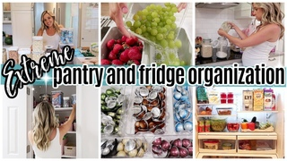 *NEW* EXTREME PANTRY ORGANIZATION + FRIDGE ORGANIZATION + GROCERY HAUL / TIFFANI BEASTON HOMEMAKING