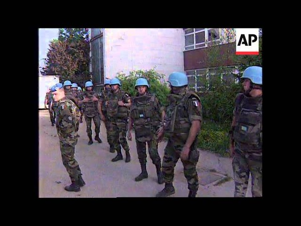 BOSNIA SARAJEVO UN BASE FORCED TO SURRENDER TO REBEL SERBS