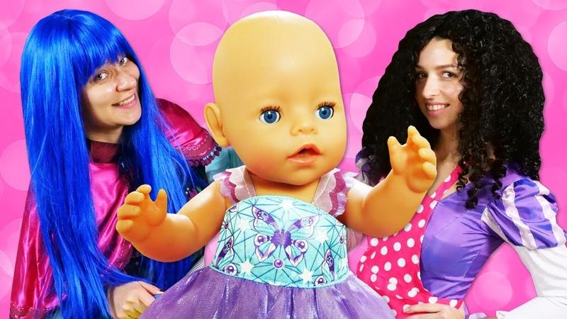 Принцессы Диснея Как Мама для Беби Бон Сборник смешных видео с Baby Born Игры для девочек