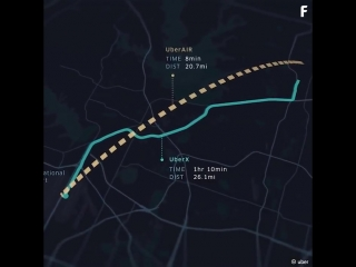 🚕 Uber объявил 5 следующих претендентов на запуск проекта летающего такси