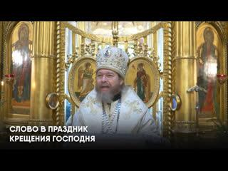 Слово митрополита Псковского и Порховского Тихона (Шевкунова) в праздник Крещения Господня