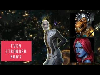 Beta Ray Bill The One Shot God! and Mystique vs Ebony Maw and Corvus Glaive 99 - Marvel Future Fight