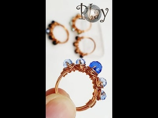 Play with wire   Simple ring   Crystal   Wire Jewelry 622 #Shorts