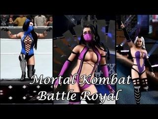WWE 2K18 - 6 Women's Fantasy Battle Royal for the Mortal Kombat Women's Championship