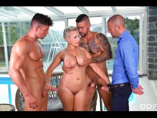 [DDFBusty] Angel Wicky - Busty Blonde s Three on One Fun
