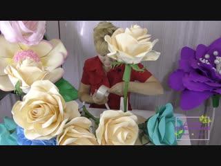 Шляпная коробка для ростовых цветов I Бесплатный мк