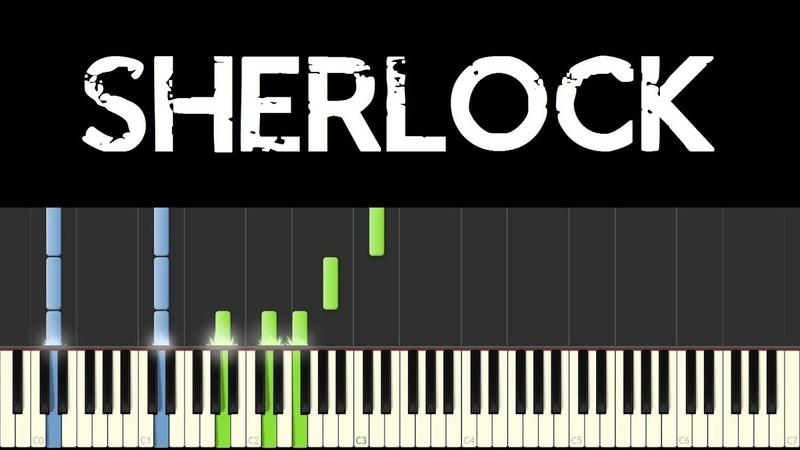 Sherlock SHERlocked Irene Adler's Theme Piano Tutorial sheets