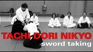 Aikido Tachi Dori Technique Nikyo - Sword Taking and Sword Defense