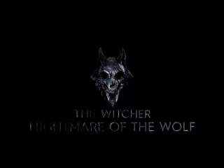 Here is the logo for Nightmare of the Wolf. A Witcher Anime film coming 2021.