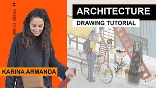 Ghibli & Japan   Architecture Drawing Conversations - Karina Armanda