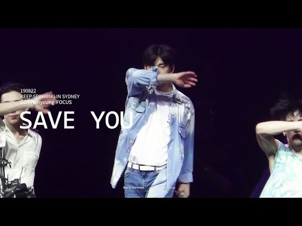 4K 190822 KEEP SPINNING IN SYDNEY SAVE YOU 지켜줄게 GOT7 JINYOUNG FOCUS